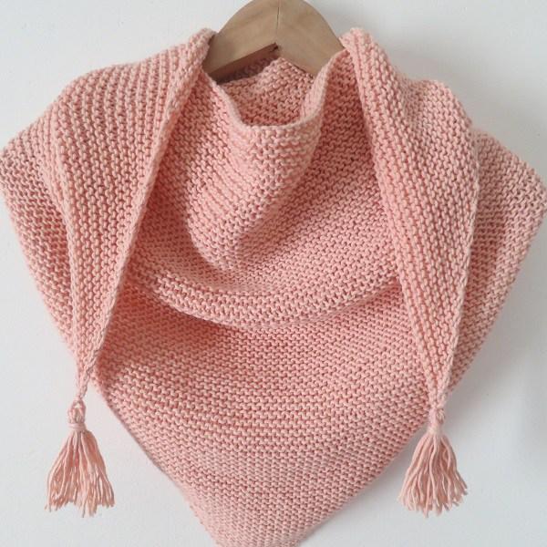 tuto tricot trendy chale