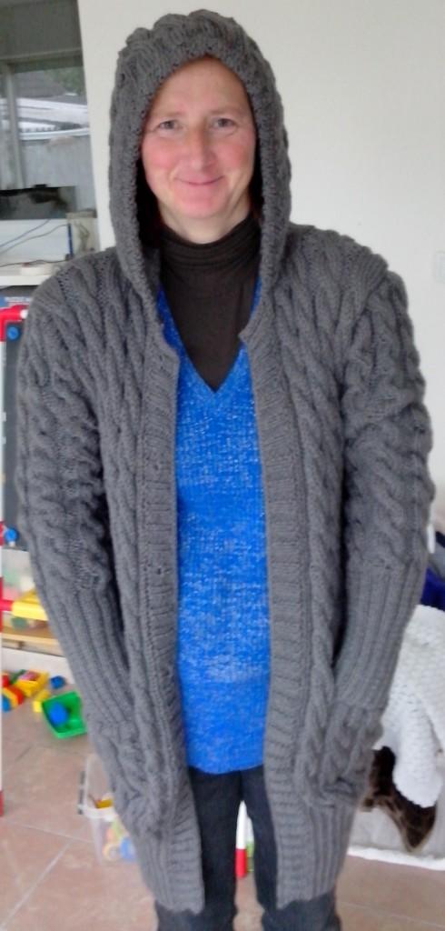 tuto tricot veste capuche femme