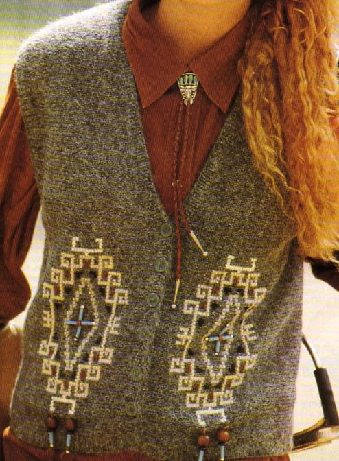 tuto tricot veste sans manche